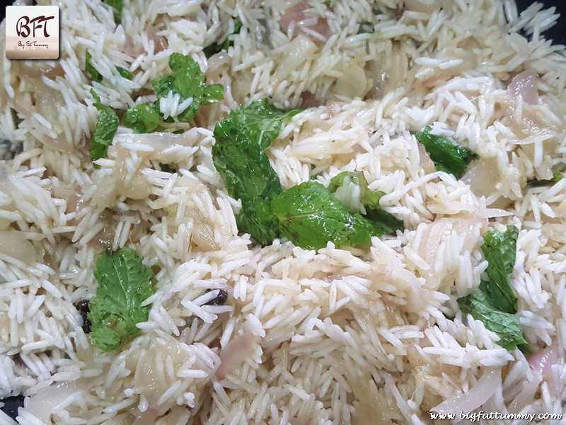 Preparation of Coconut Pulao