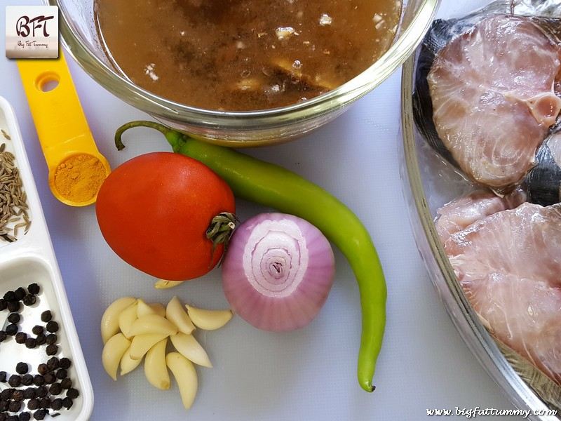 Preparation of Goan King Fish Jeerem Meerem