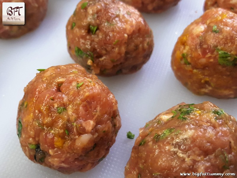 Preparation of Meat Ball Curry