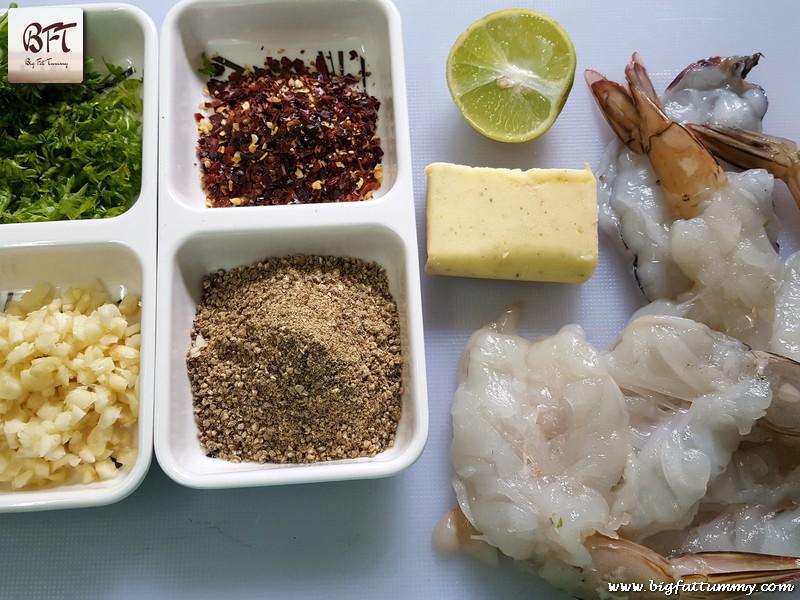 Preparation of Butter Garlic Prawns