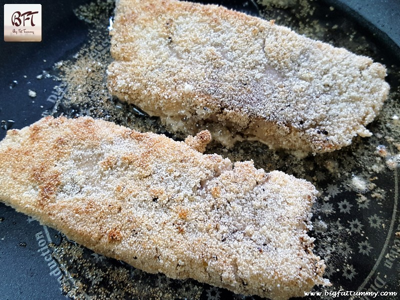 Preparation of Sea Bass Fillet Rava Fried
