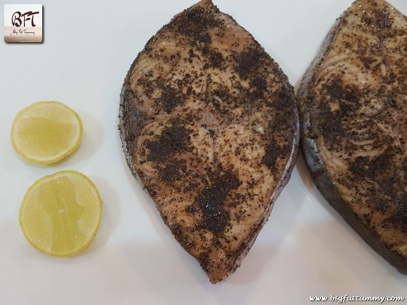 Making of Kingfish Lemon Pepper Fried
