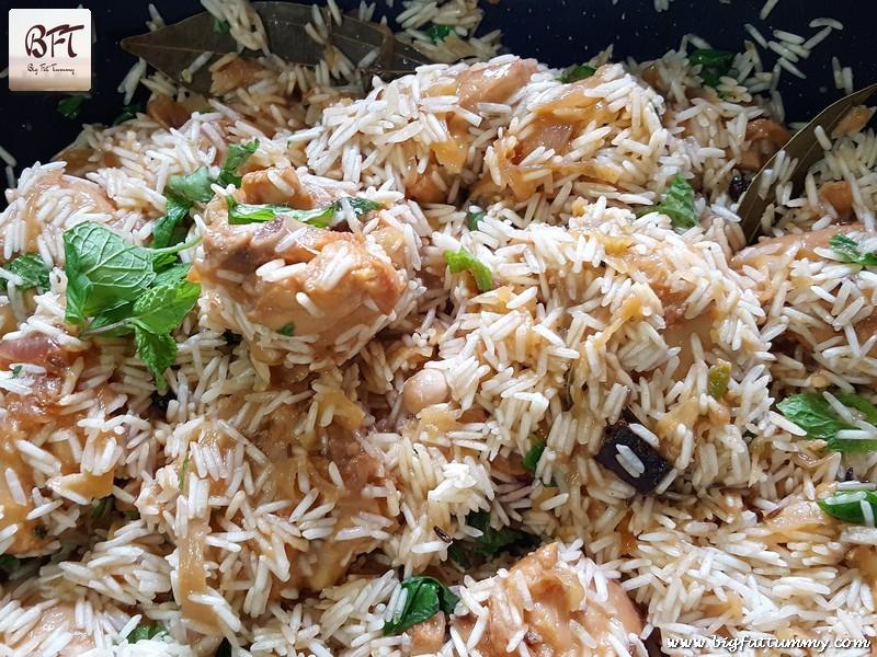 Preparation of Chicken Pulao