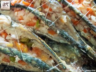 Salad Stuffed Mackerels
