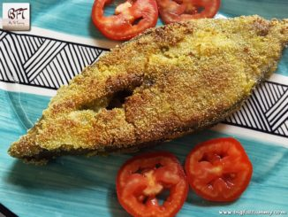 Pomfret Green Masala Rawa Fried