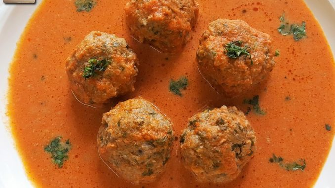 Mutton Koftas in a Tomato Gravy