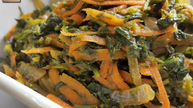 Methi Carrot Stir Fry