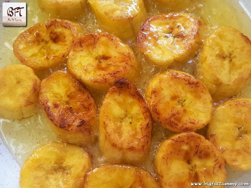 Making of Goan Keleacho Halwo .. a banana sweet dish