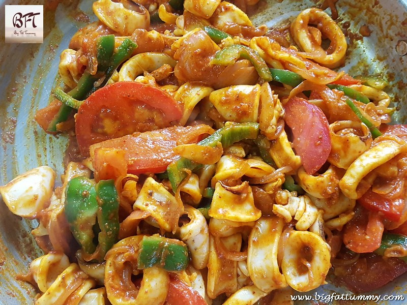 Making of Goan Squid Chilly Fry - Restaurant Style