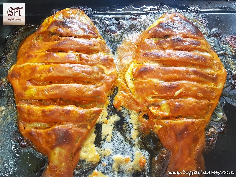 Making of Grilled Pomfret