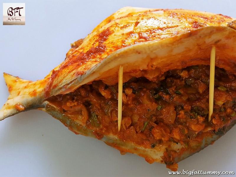 Making of Pomfret stuffed with Goan Prawn Recheio