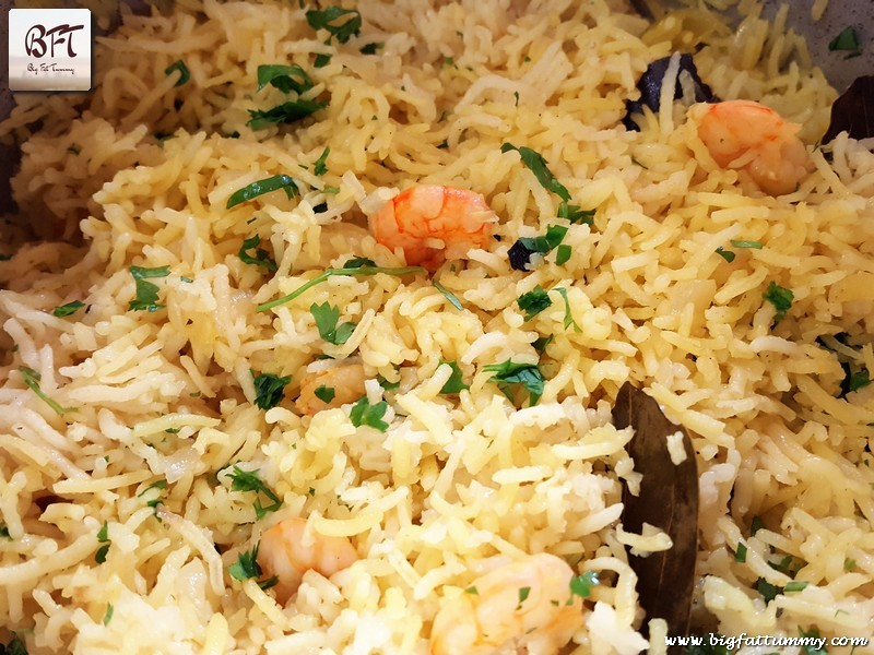 Making of Prawn Pulao with Coconut Milk - V.2.