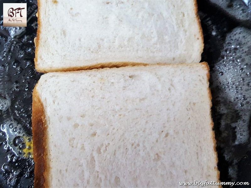 Making of Toasted Chicken Cheese Sandwich