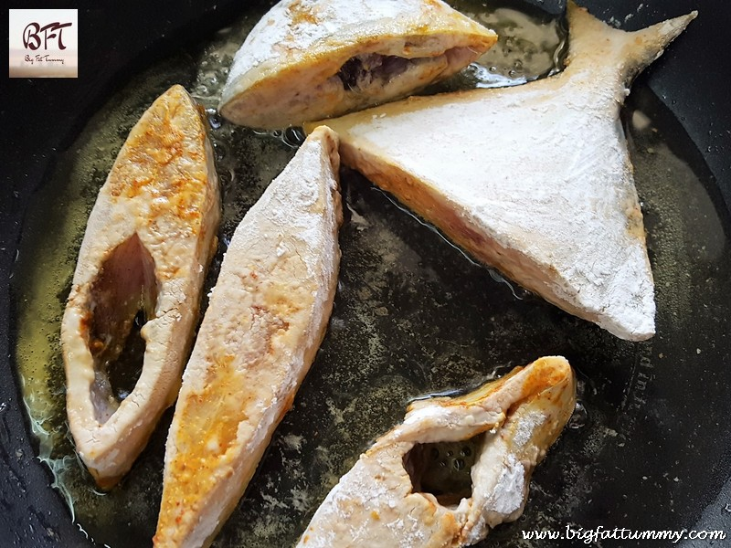 Making of Crisp Fried Pomfret
