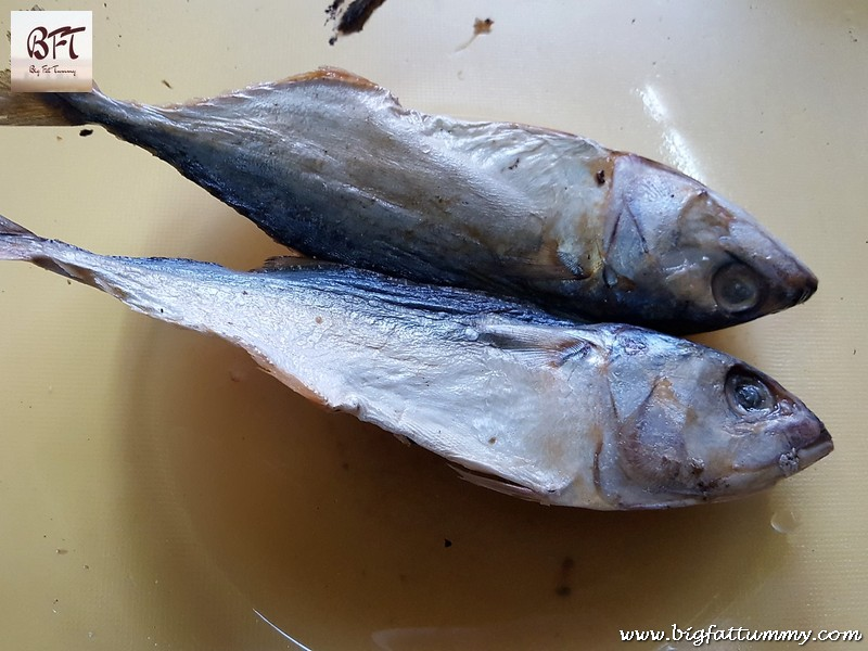 Making of Dry Mackerel Para