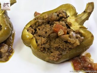 Capsicum Stuffed with Beef Mince