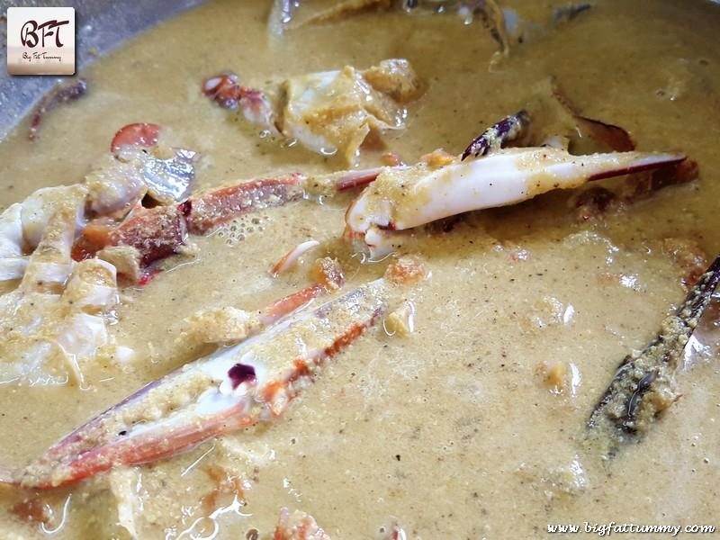 Preparation off Goan Crab Curry