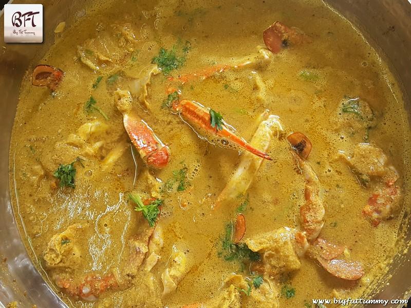 Preparation of Goan Crab Curry