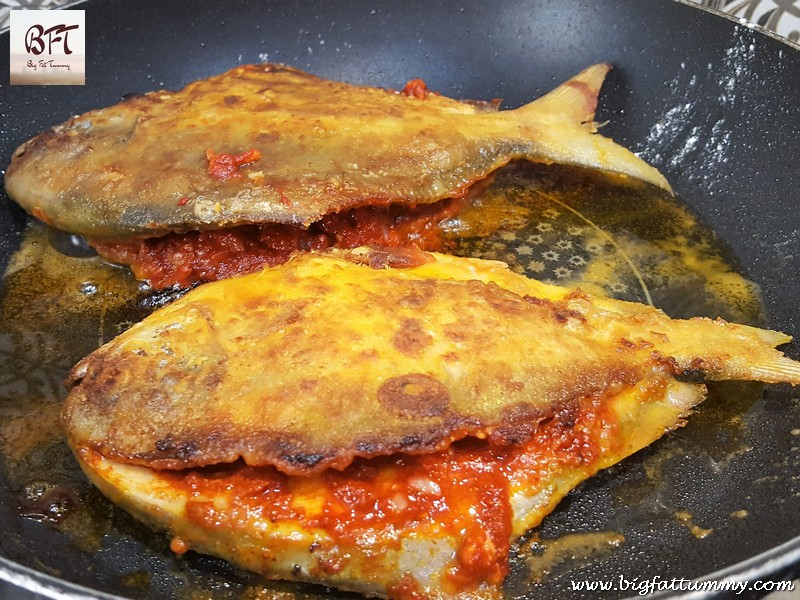Making of Recheado Pomfret