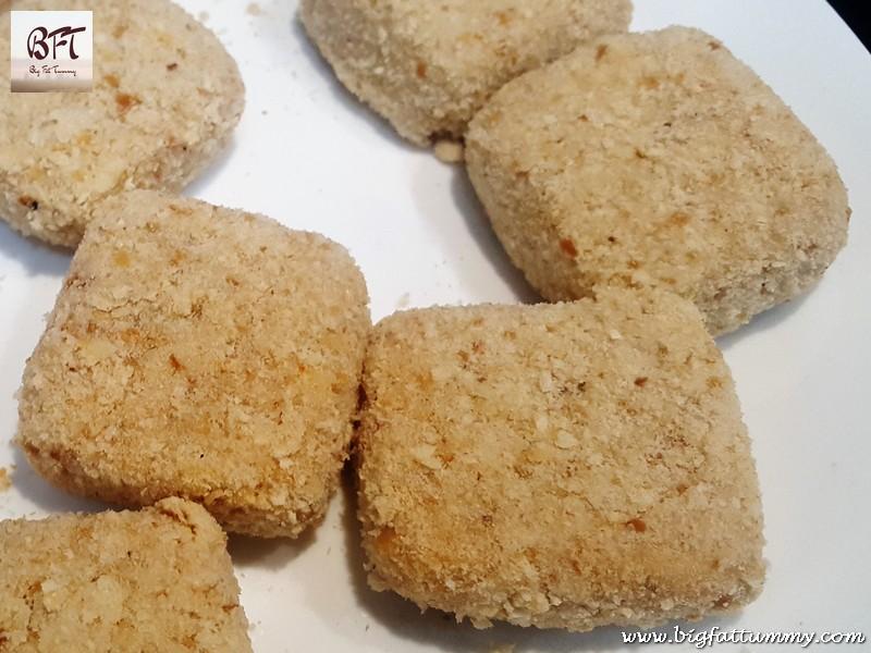 Making of Cheesy Potato Squares