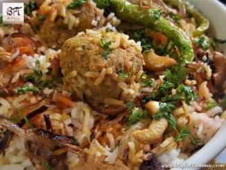Chicken Meatball Biryani