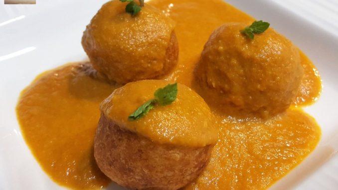 Paneer Kofta in a Tomato Cream Gravy