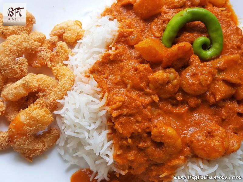 Preparation of Prawn and Potato Curry