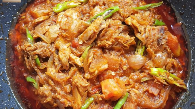 Canned Tuna Chilly Fry