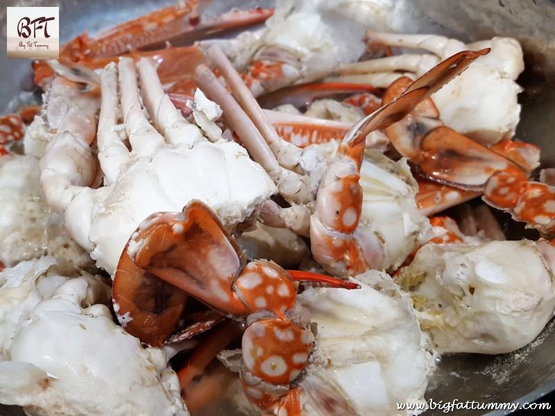 Preparation of Crab Xacuti