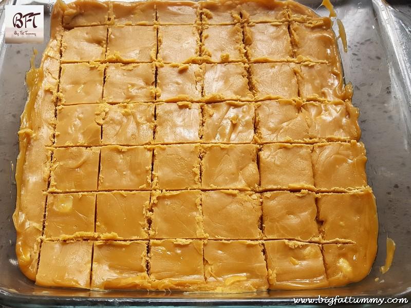 Making of Caramel Fudge