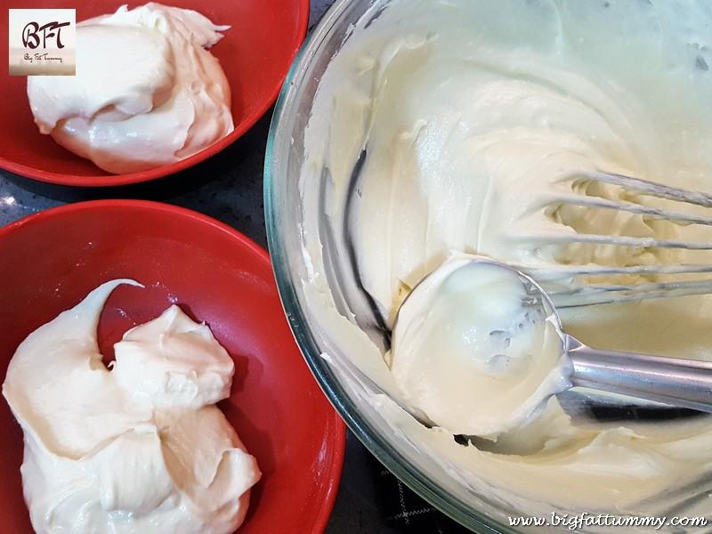 Making of Ribbon Cake