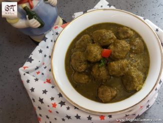 Green Beef Meat Ball Curry