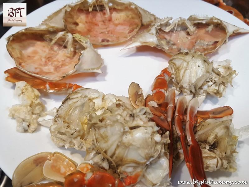 Preparation of Stuffed Crabs