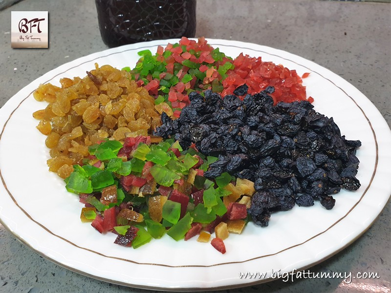 Soaking of Fruits for Traditional Christmas Cake