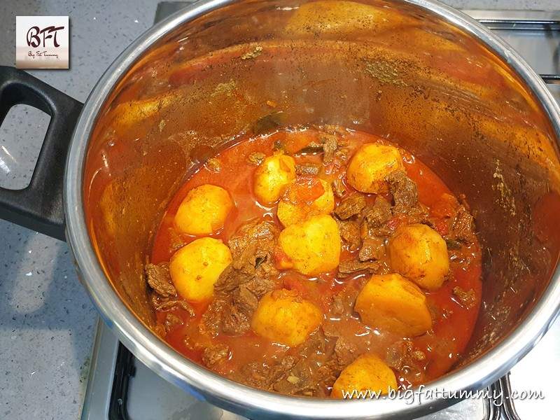 Preparation of Beef & Potato Curry