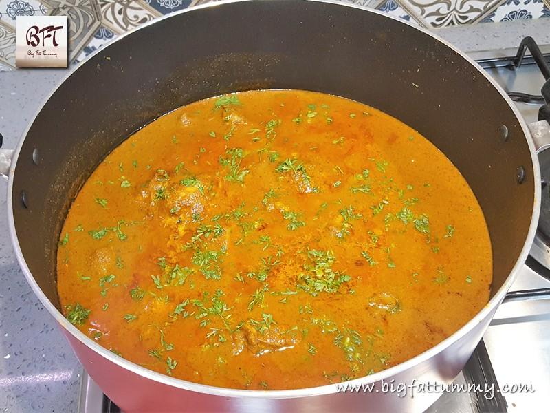 Preparation of Chicken Xacuti