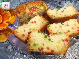 Eggless Tutti Fruti Cake