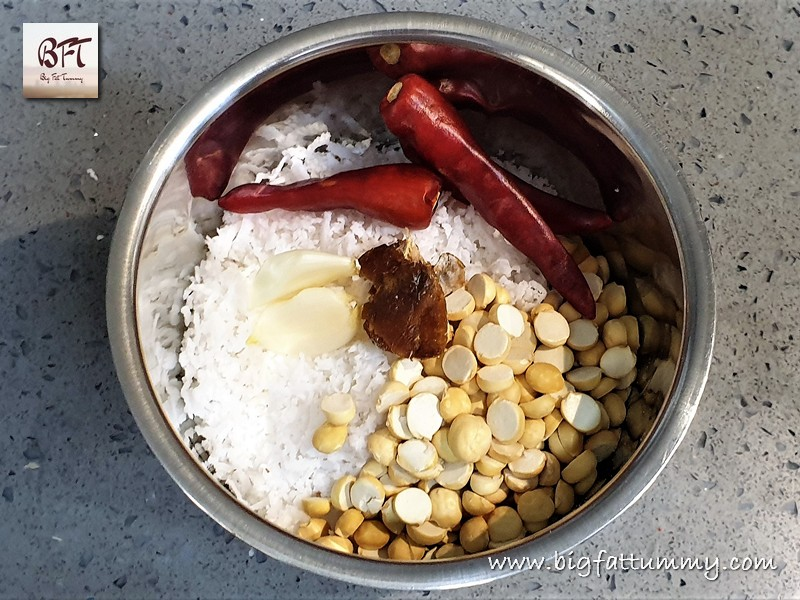 Preparation of Red Idli Dosa Chutney