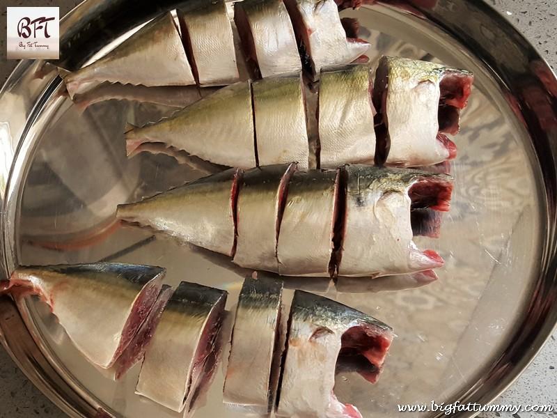 Making of Bangde Sukhem (Dry preparation of mackerel with coconut)