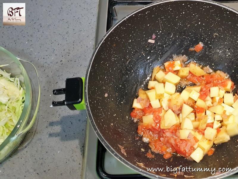 Making of Cabbage & Potato Bhaji - Goan Soup Style