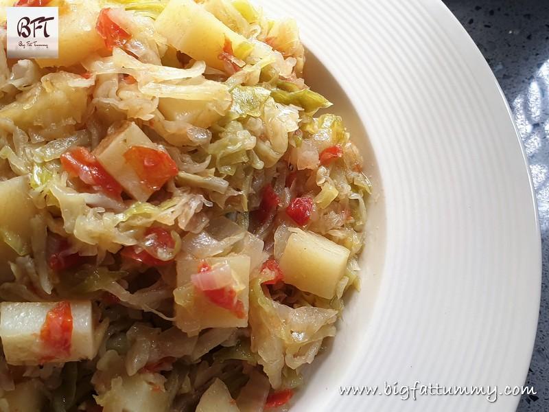 Cabbage & Potato Bhaji - Goan Soup Style