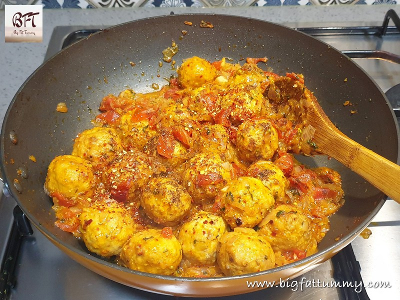 Making of Chicken Meatball Chilly Fry