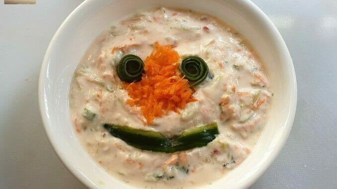 Cucumber Carrot Raita