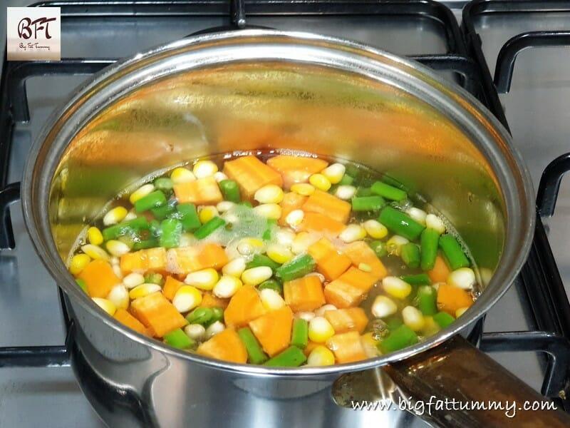 Making of Mixed Vegetable Mayo Salad