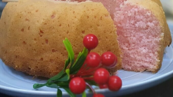 Rose Coconut Bundt Cake