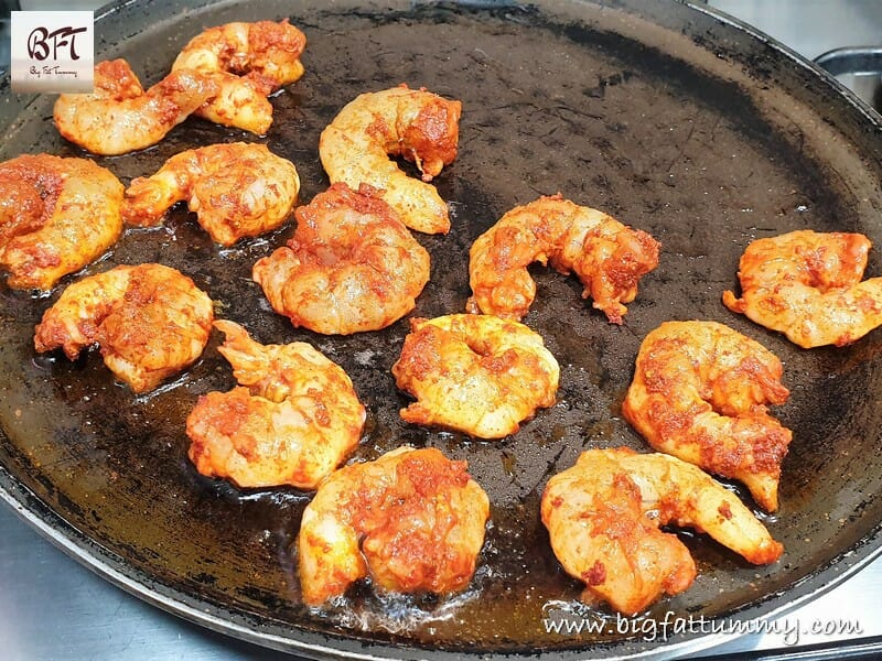 Making of Quick Prawn Masala Fried