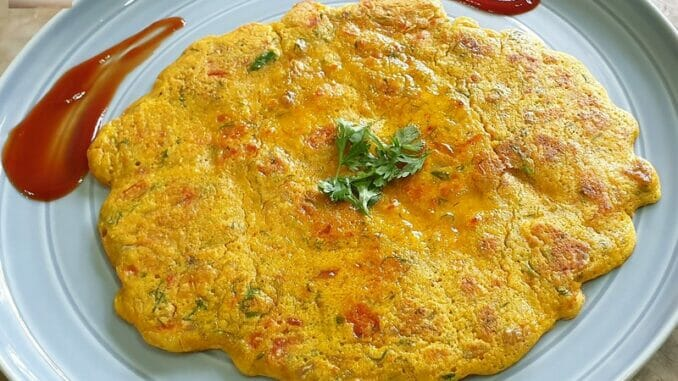 Tomato Omlette / Besan Cheela
