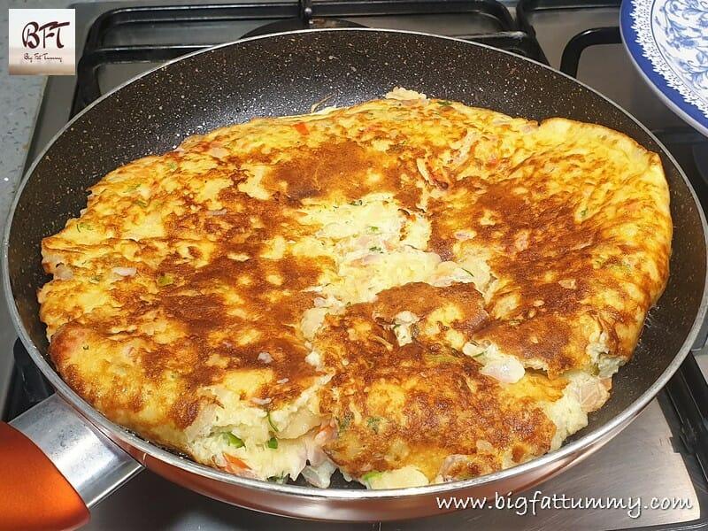 Making of a Bread Egg Omlette