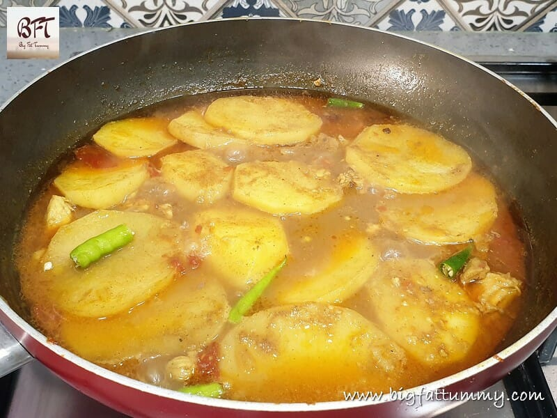 Making of Chicken Capsicum & Potato Curry