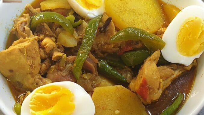 Chicken Capsicum & Potato Curry